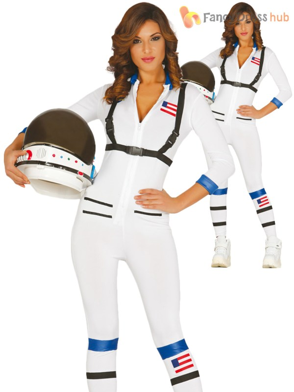 Adults Astronaut Costume Mens Ladies Space Man Suit Fancy ...