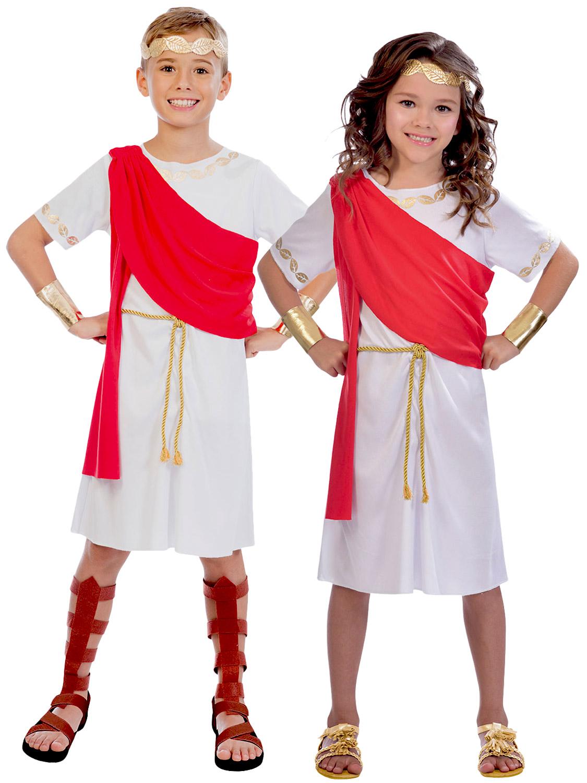 Childs Toga Costume Boys Girls Greek Roman God Goddess