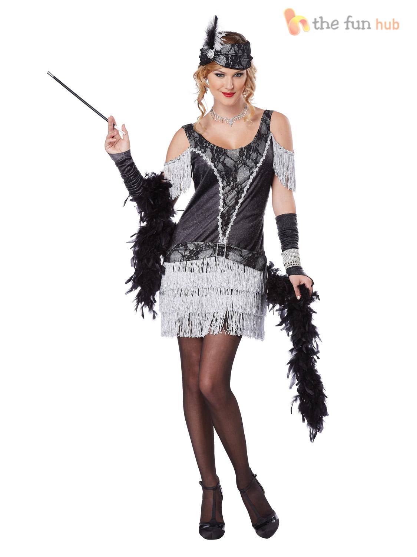 Deluxe Ladies 1920s Flapper Costume Sexy Womens 20's ...
