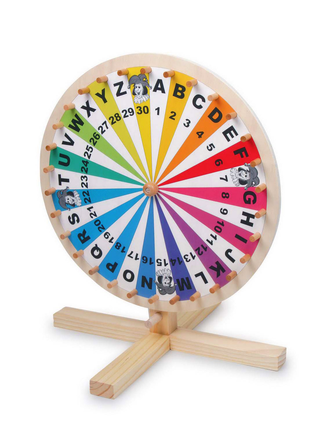 Wooden Wheel Of Fortune Toy Game Lottery Spinning Wheel