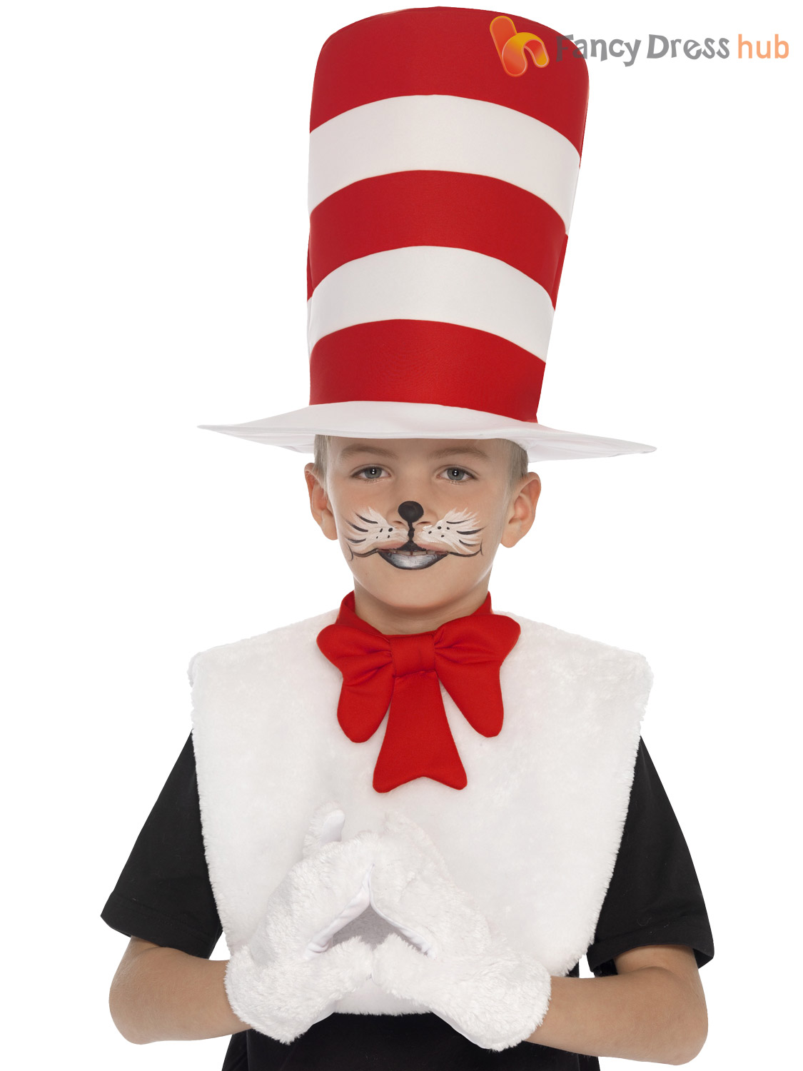 Childs Cat In The Hat Kit Kids Dr Seuss Fancy Dress