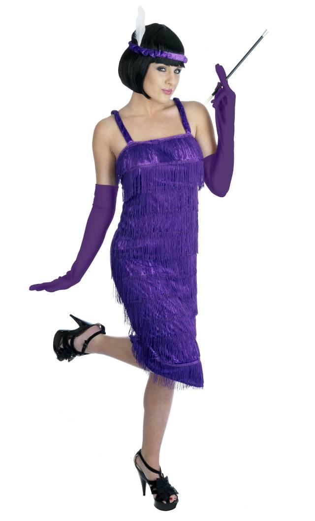 1920s Fringe Flapper Fancy Dress Charleston Ladies 20s ...