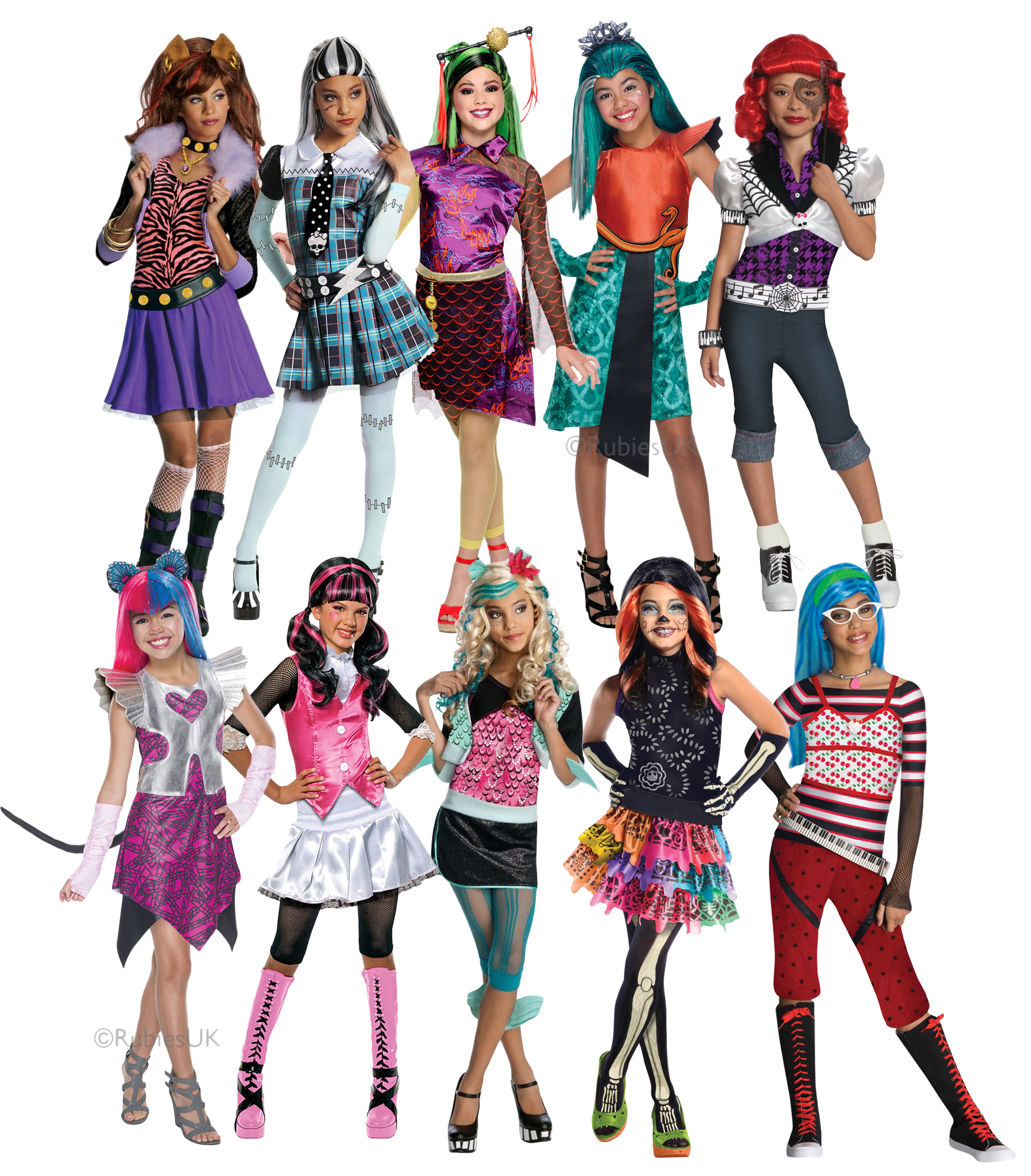 Monster High Girls Fancy Dress Halloween School Kids