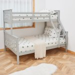 Furniture Detachable Wood Bunk Bed Frame 3ft Single Top Tier 4ft6 Double Buttom Kid S Bed Douzenis Gr