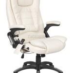 Westwood Cream Luxury Leather 6 Point Massage Office Computer Chair Reclining Ebay