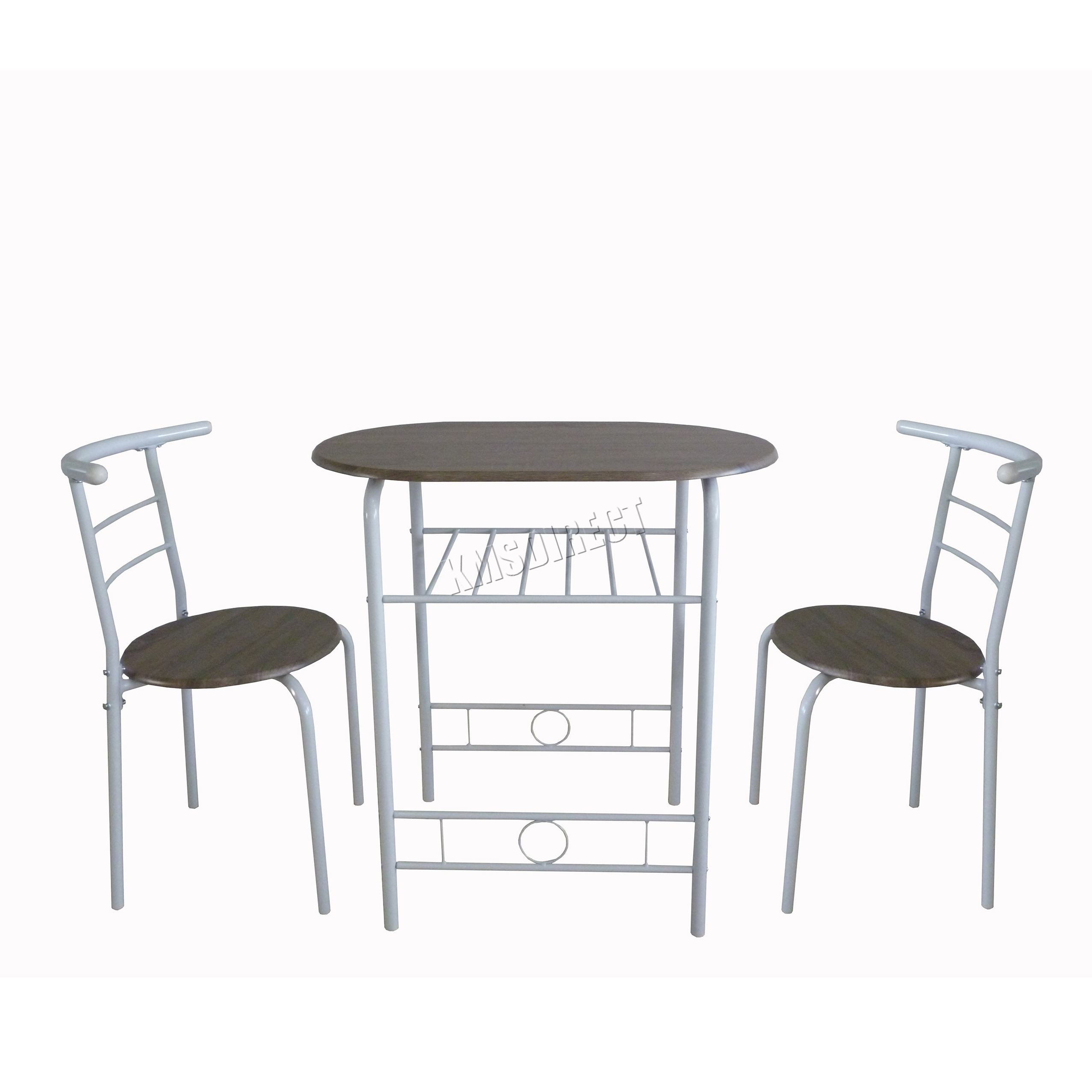 Westwood Compact Dining Table Breakfast Bar 2 Chair Set