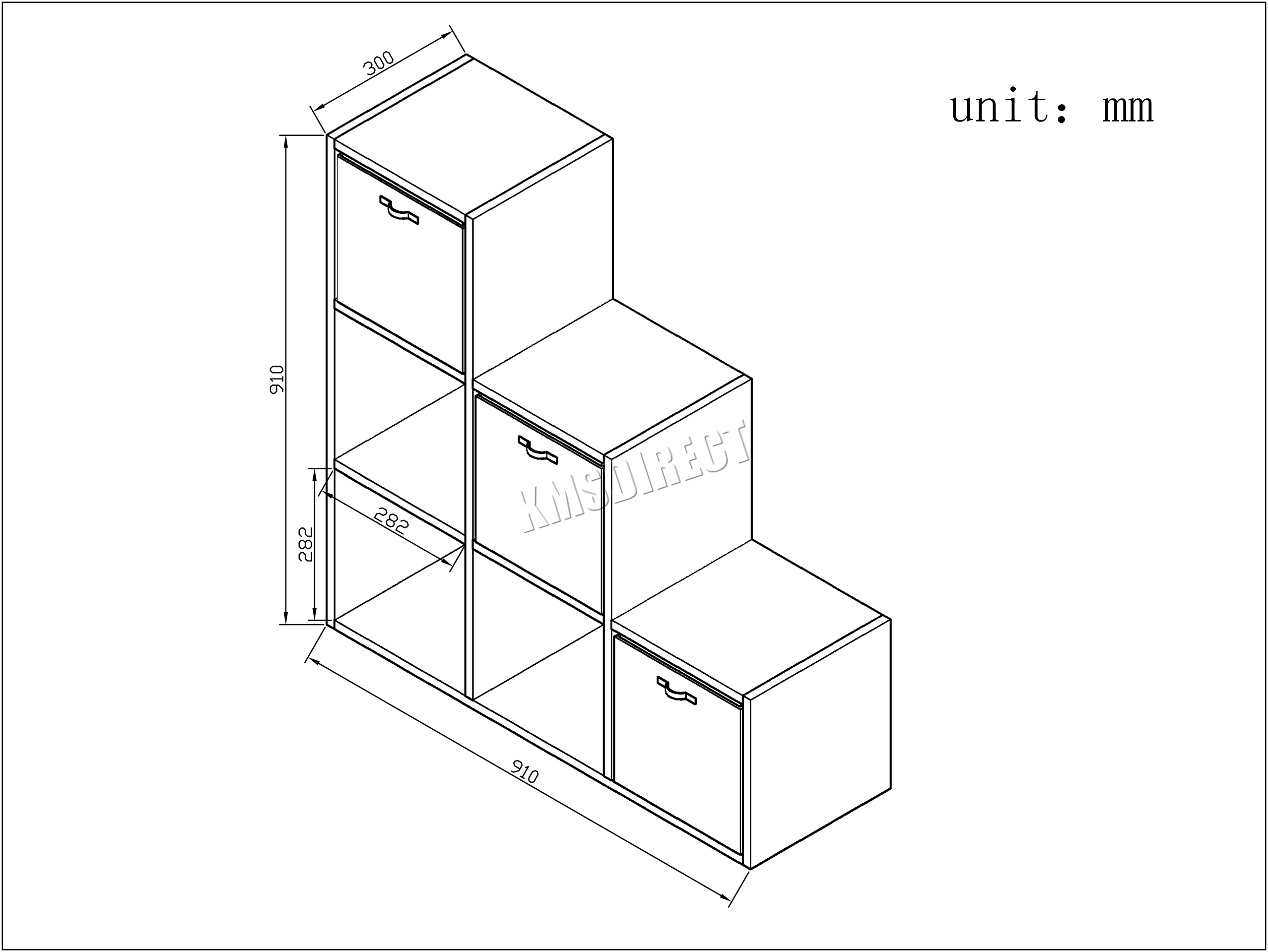 Foxhunter Toy Storage Boxes Cube Shelves 6 9 Cubes Amp 3
