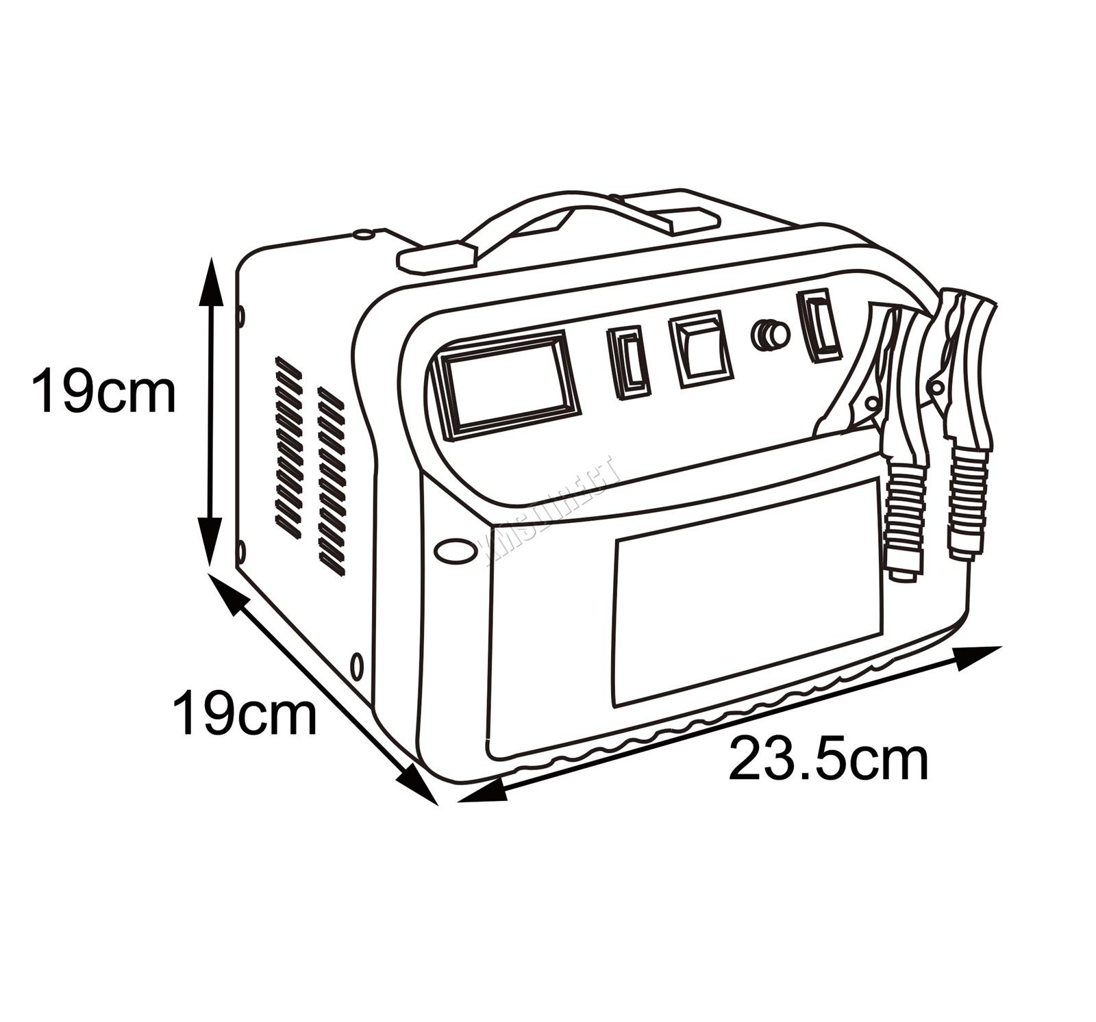 Switzer Car Battery Charger 6v 12v Portable Vehicle Jump