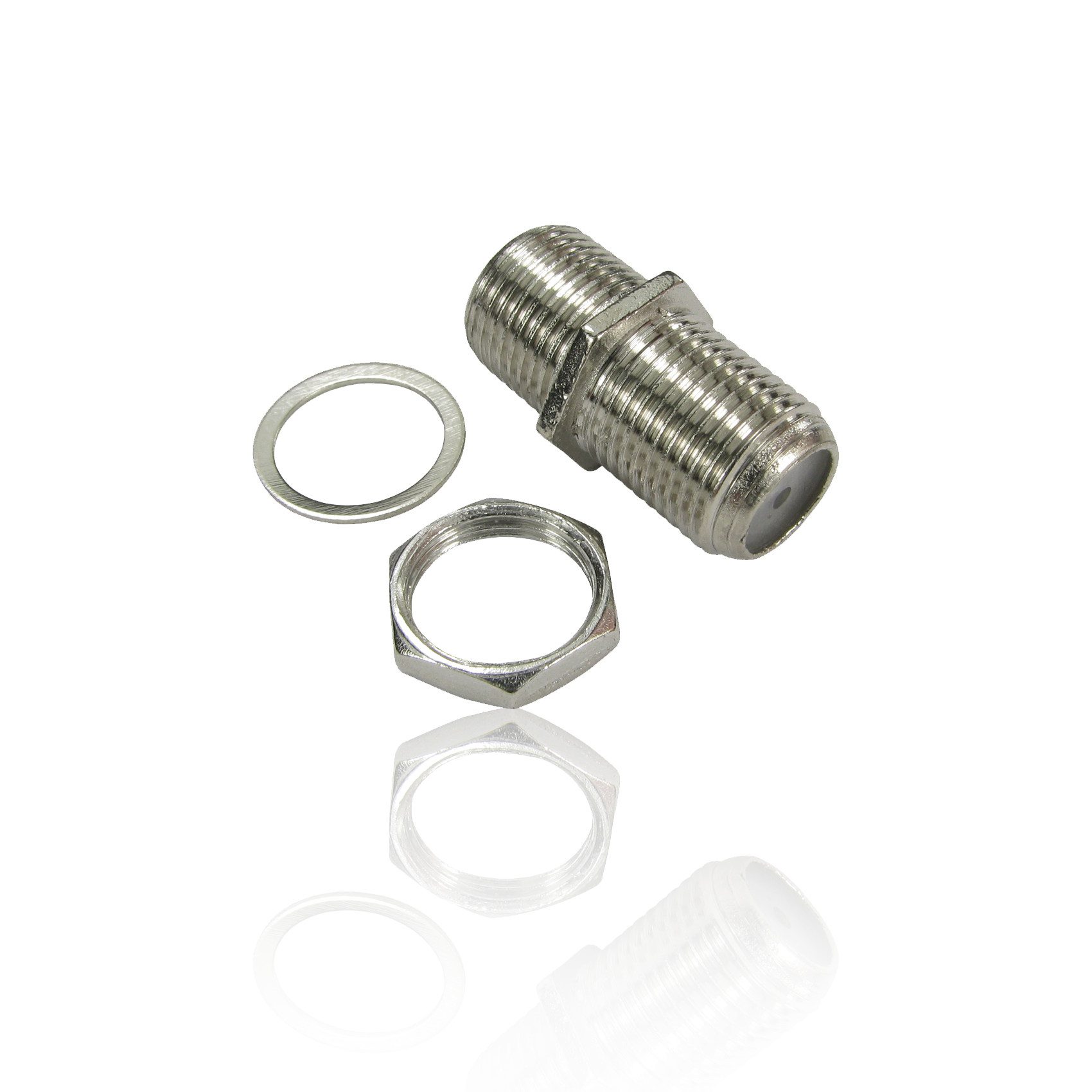 50x F Type Connector Satellite Cable F F Coupler Joiner