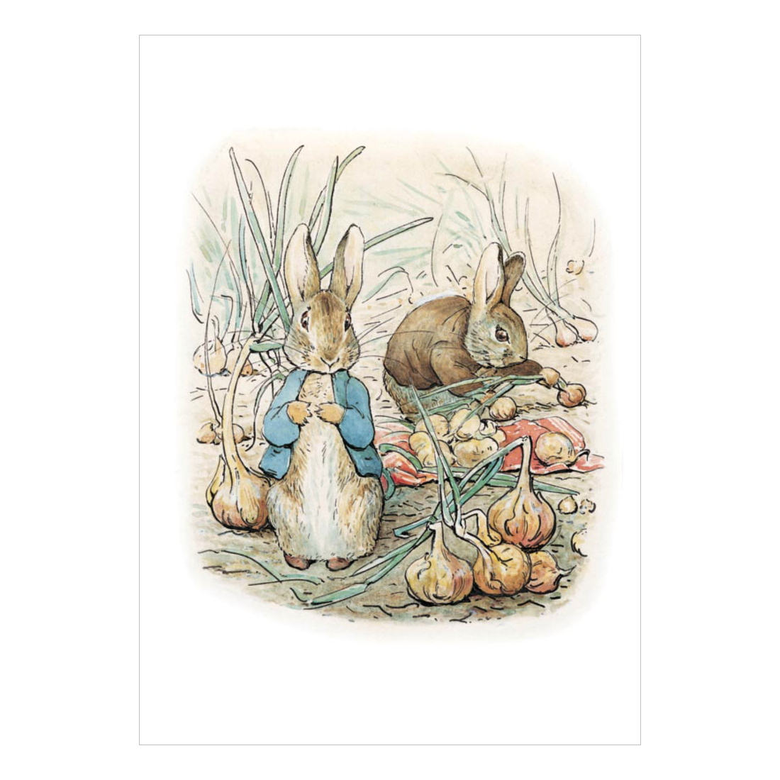 Peter Rabbit Amp Benjamin Bunny Greeting Card Retro Blank