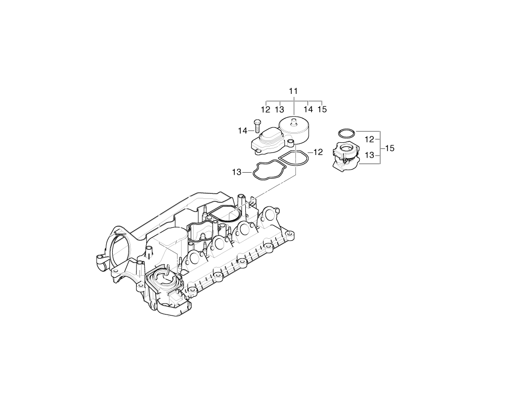 Bmw Genuine Engine Crankcase Oil Breather Filter 1 3 5