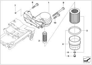 BMW Oil Filter Element E53E60E61E63E64E65E66 567