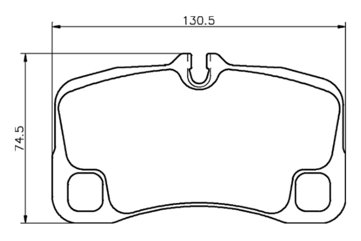 Porsche 911 997 Brembo Rear Brake Pad Set