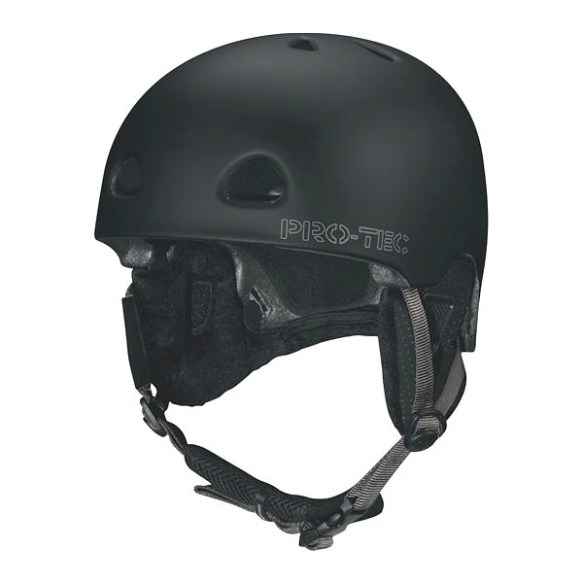 ProTec Assault Plantronic Snowboard Helmet in Black Size Small
