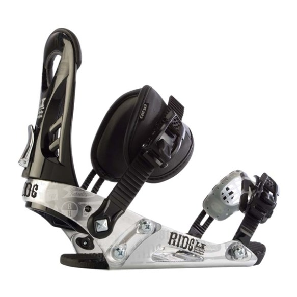 Ride LX Snowboard Binding 2012 in Black Chrome