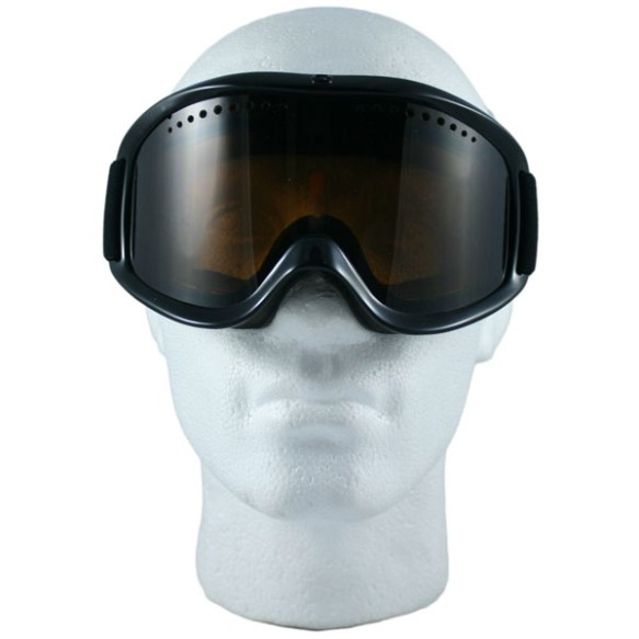 Von Zipper Sizzle Snowboard Ski Goggles 2012 in Black Gloss with Bronze Lens