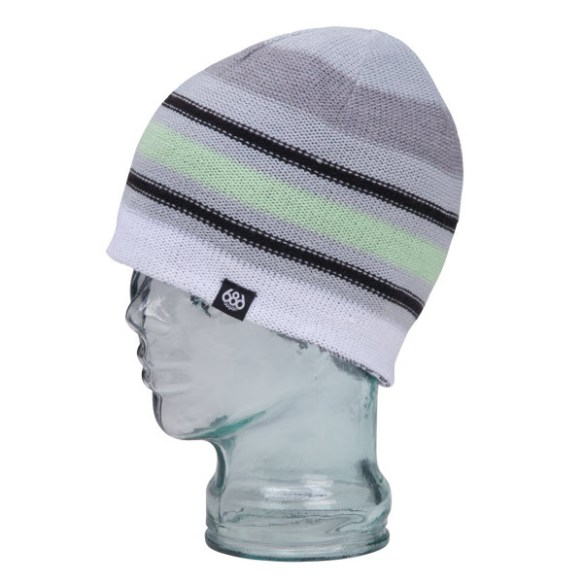 686 Womens Striate Beanie Hat Snowboard Ski Black New 2013