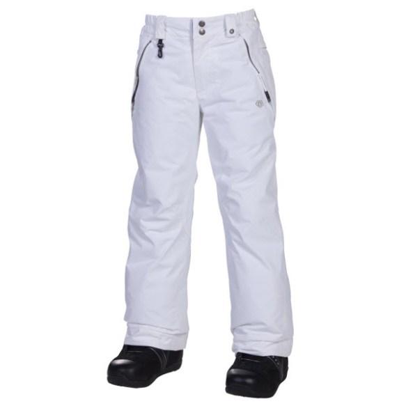 686 Girls Mannual Brandy Snowboard Pants White Medium Age 10/12 Sample 2013