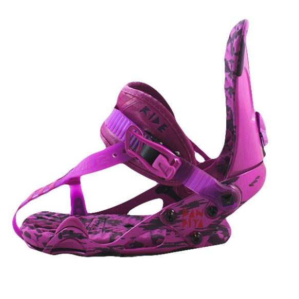 Ride Bandita Womens Snowboard Bindings 2012 in Purple Medium Size