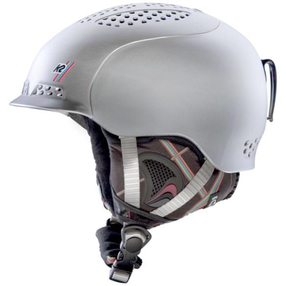 K2 Womens Virtue Ski Snowboard Helmet 2013 in Silver Frost