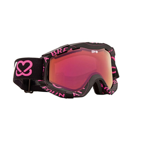 Spy Zed Keep A Breast Snowboard Ski Goggles Pink Spectra Mirror 2013