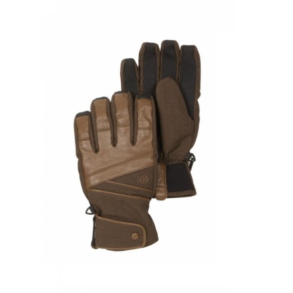 686 Mens Satellite Insulated Gloves Chocolate Denim Texture 2013