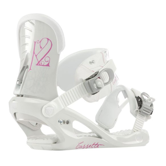 K2 Cassette Womens Snowboard Bindings 2013 in White