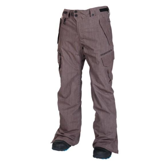 686 Mens Smarty Slim Cargo Snowboard Pants Dark Rust Denim 2014 Sample Large
