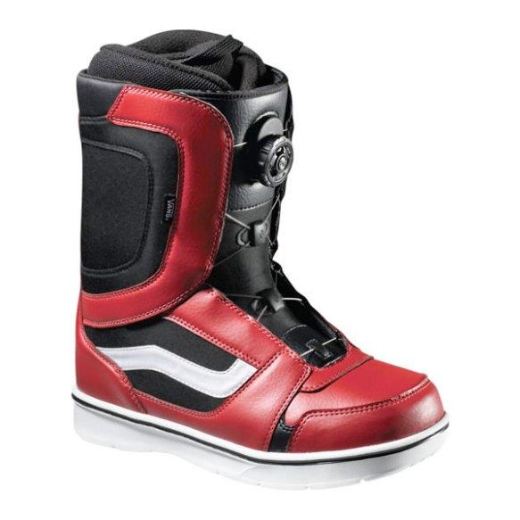 Vans Encore Boa Mens Snowboard Boots 2013 in Red Black
