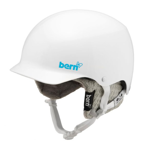 Bern Muse Hard Hat Womens Snowboard 2013 in Gloss White Grey Knit Size Small