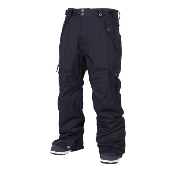686 Mens Smarty Original Cargo Snowboard Pants Black 2014 Various Sizes
