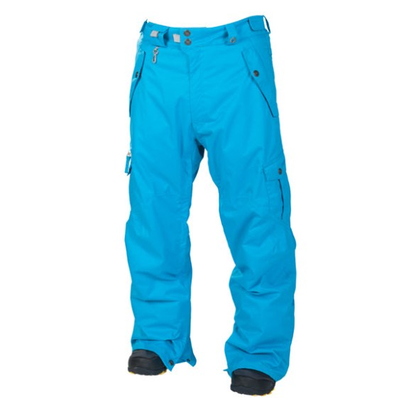 686 Mens Smarty Original Cargo Snowboard Ski Pants Bluebird 2014