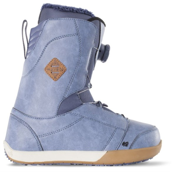K2 Haven Boa Snowboard Boots 2015 Sample in Washed Blue UK 5.5