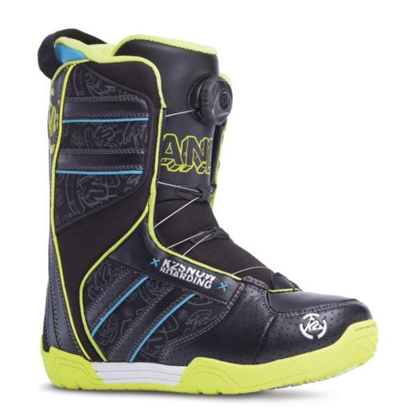 K2 Vandal Kids Snowboard Boots 2015 in Black UK 4
