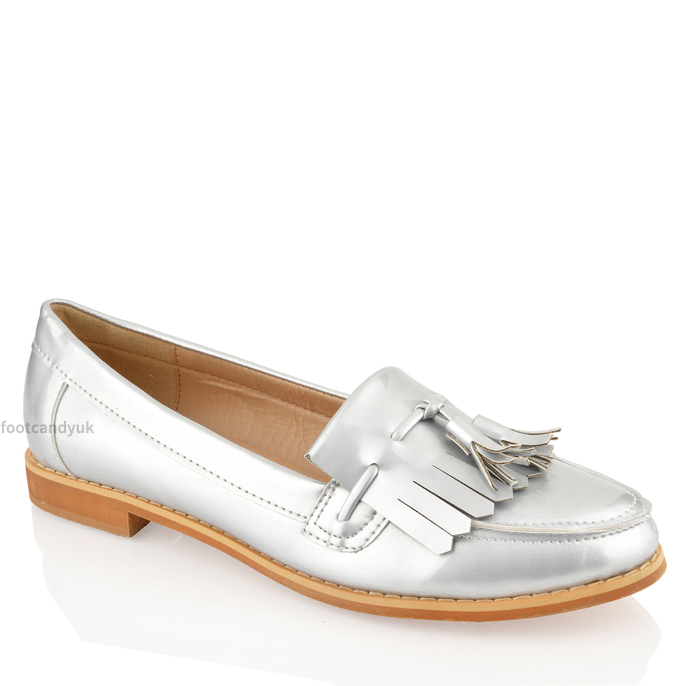 Silver Loafers Heels Mince His Words