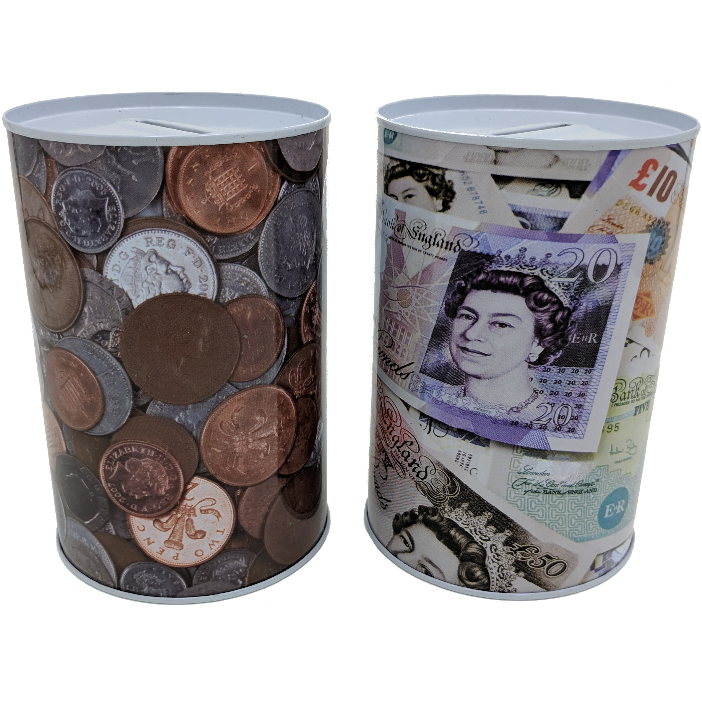 15cm Coins Money Tin Box Piggy Bank Novelty Savings T