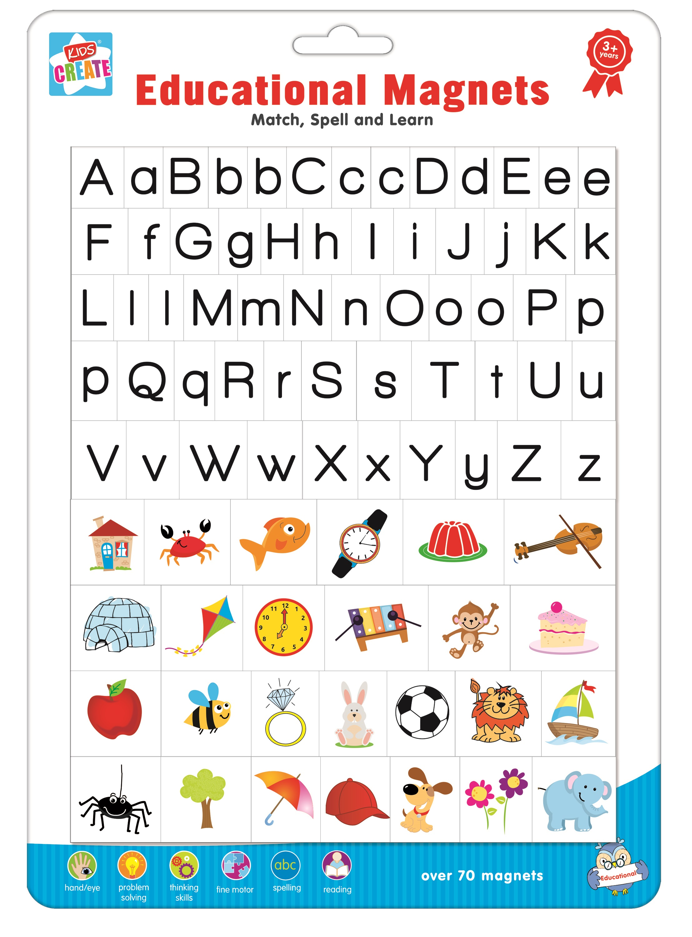 70 Kids Educational Magnets Spelling Reading Letters