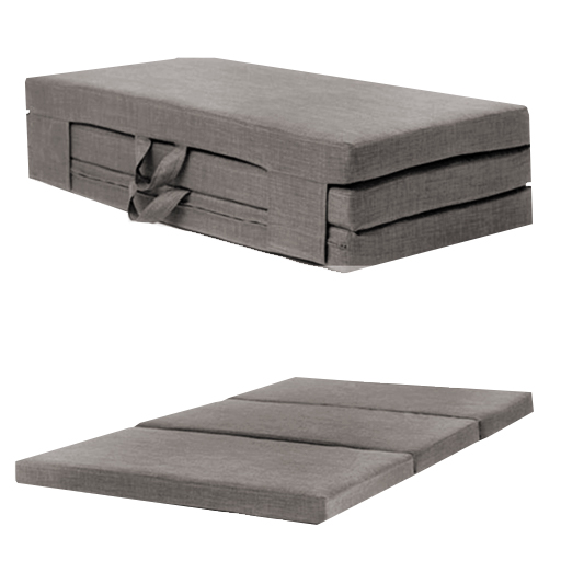 Slate Grey Double 4ft Folding Sofabed Futon Fold Out Foam Guest