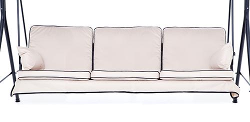 patio cushions grey 3 seater