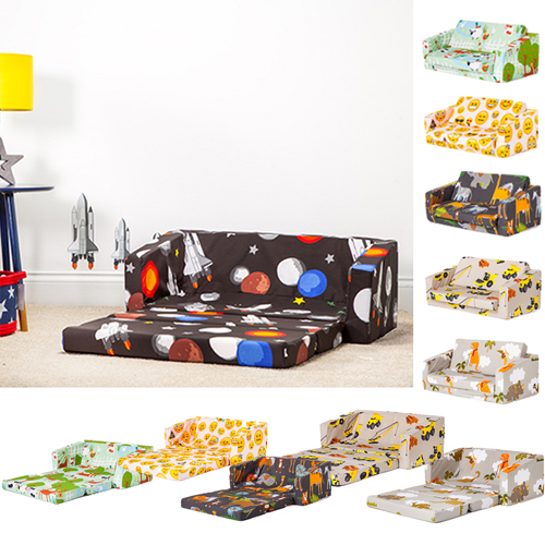 details zu children folding sofa bed futon guest mattress fold out chair bed kids toddlers
