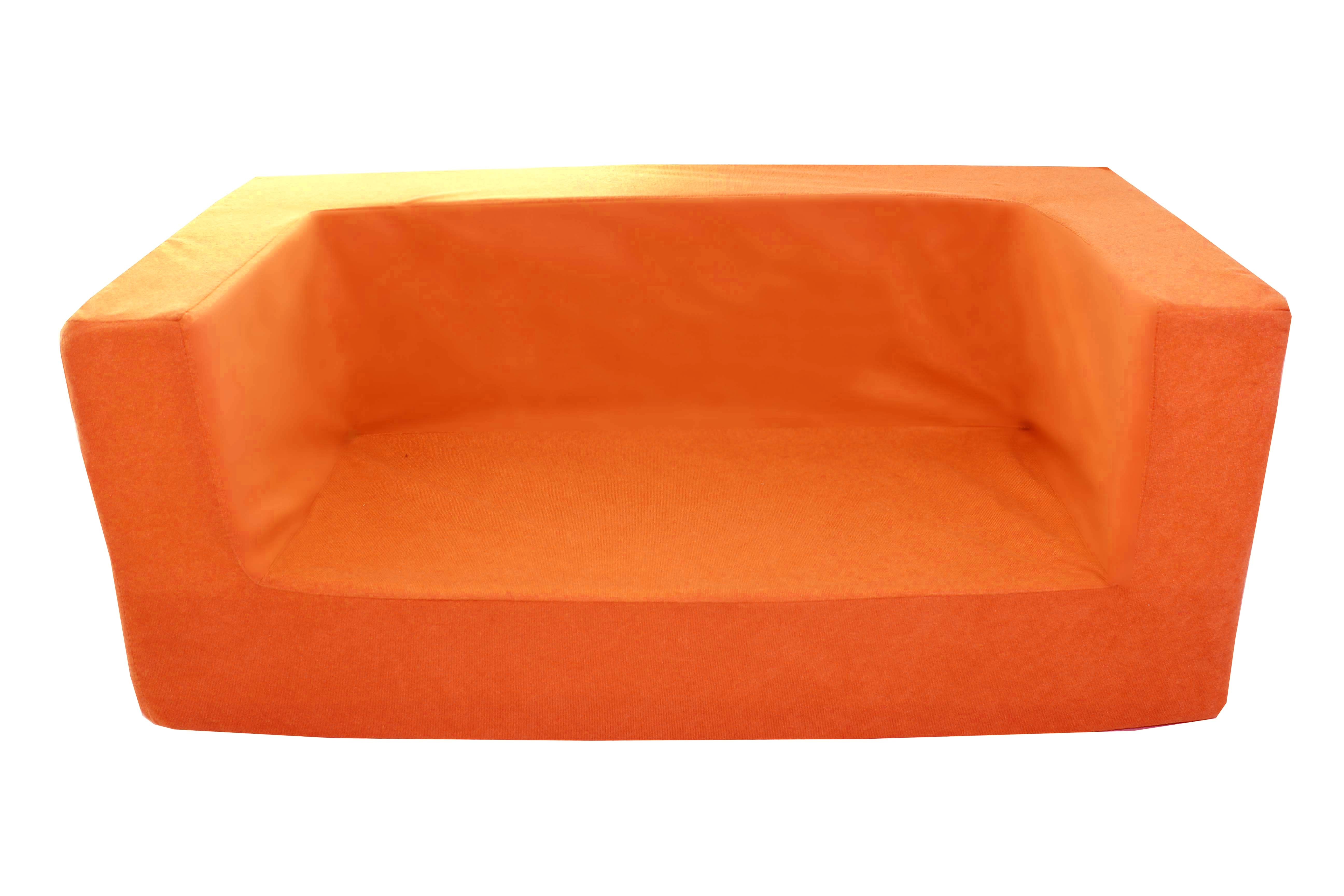 Kids Childrens Double Comfy Settee Toddlers Foam Sofa