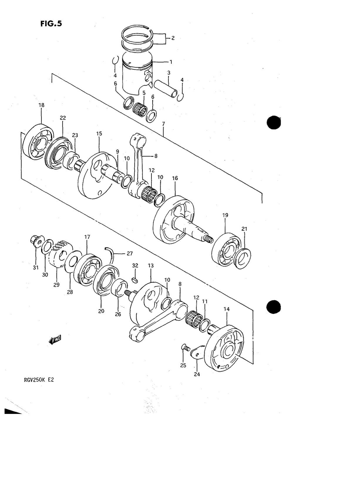 Suzuki Genuine Rgv250 K L Crankshaft Piston Bearing