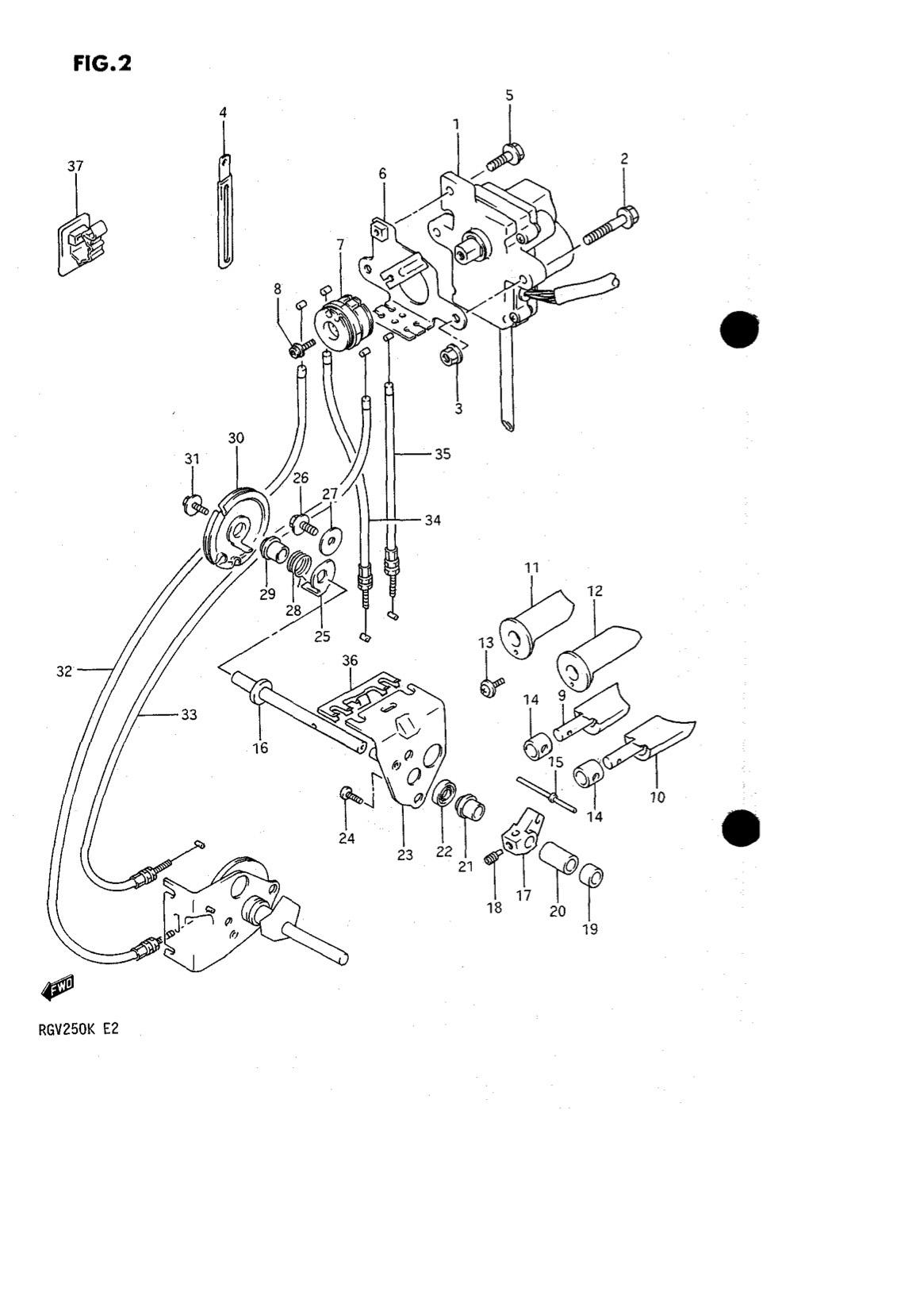 Suzuki Genuine Rgv250 K L Exhaust Valve Left Lh
