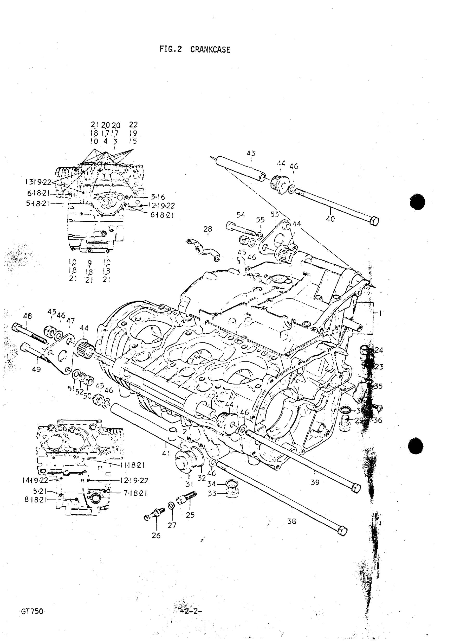 Genuine Suzuki Gt750 J M Crankcase Oil Drain
