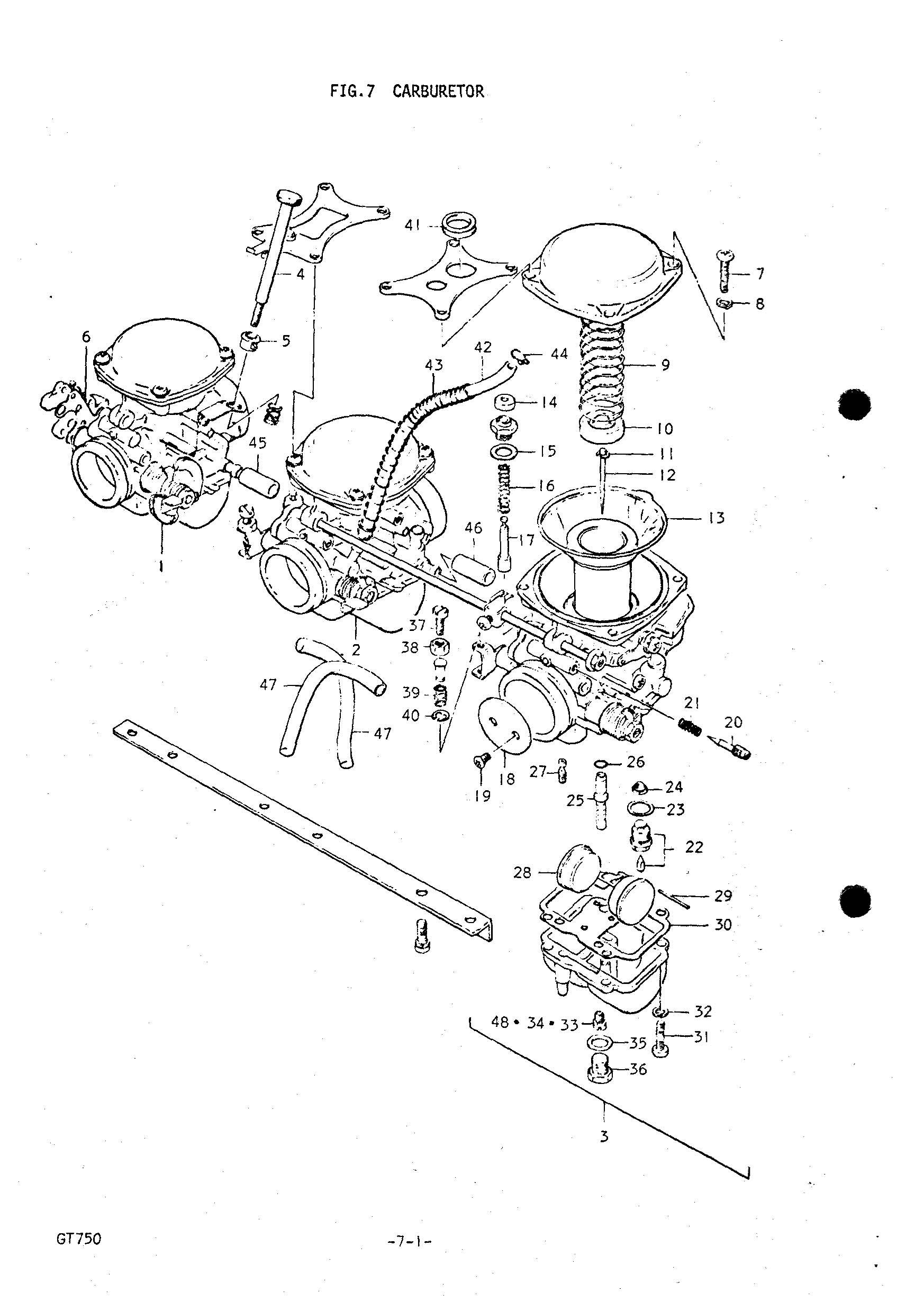 Genuine Suzuki Gt750 L M 75 Carburetor Diaphragm