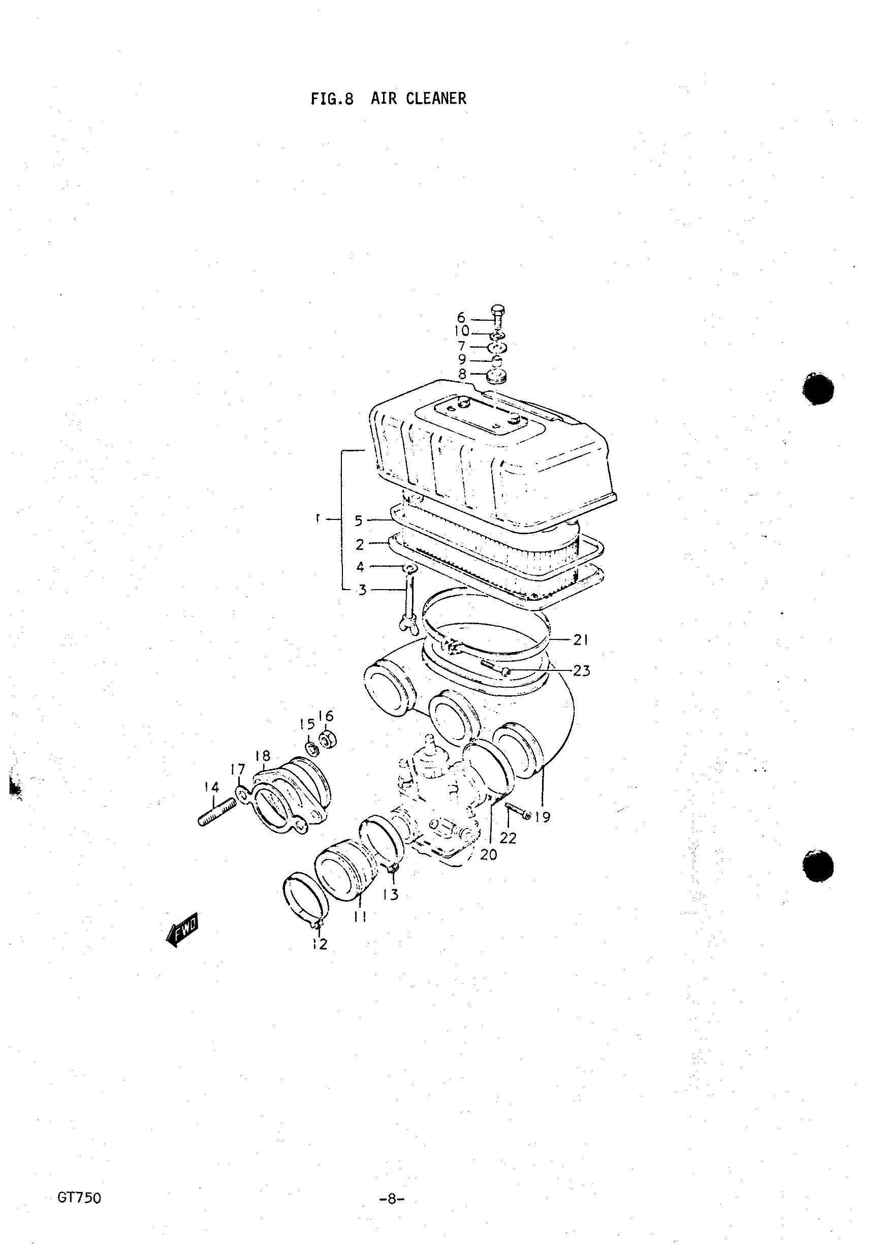 Genuine Suzuki Gt750 J K Air Cleaner Clamp