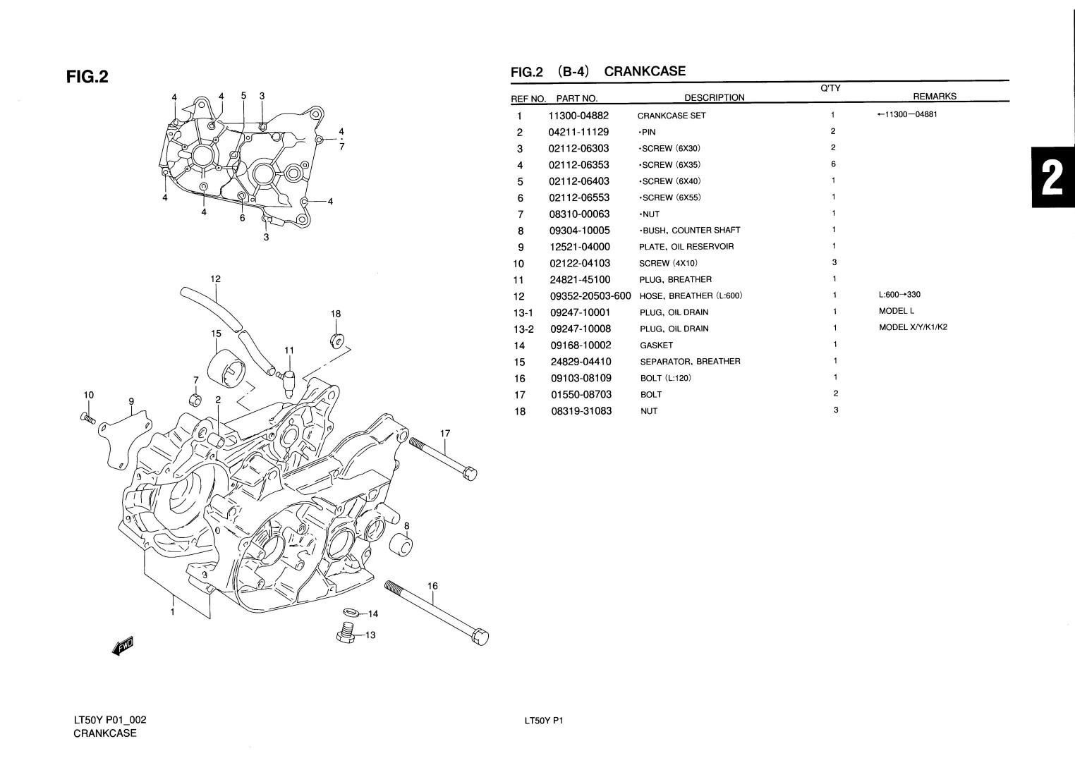 Genuine Suzuki Lt50 Mini Atv Quad Crankcase Crankcase Set