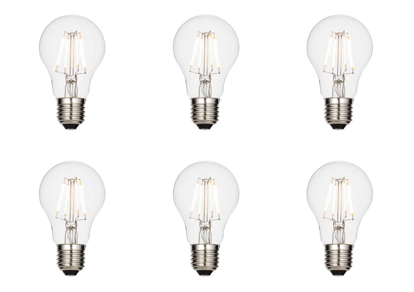 6 X Saxby E27 Led Light Bulb Filament Gls Dimmable 4 3w