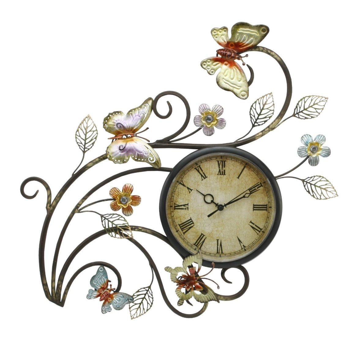 Image Result For Contemporaryerfly Metal Wall Art With Clock