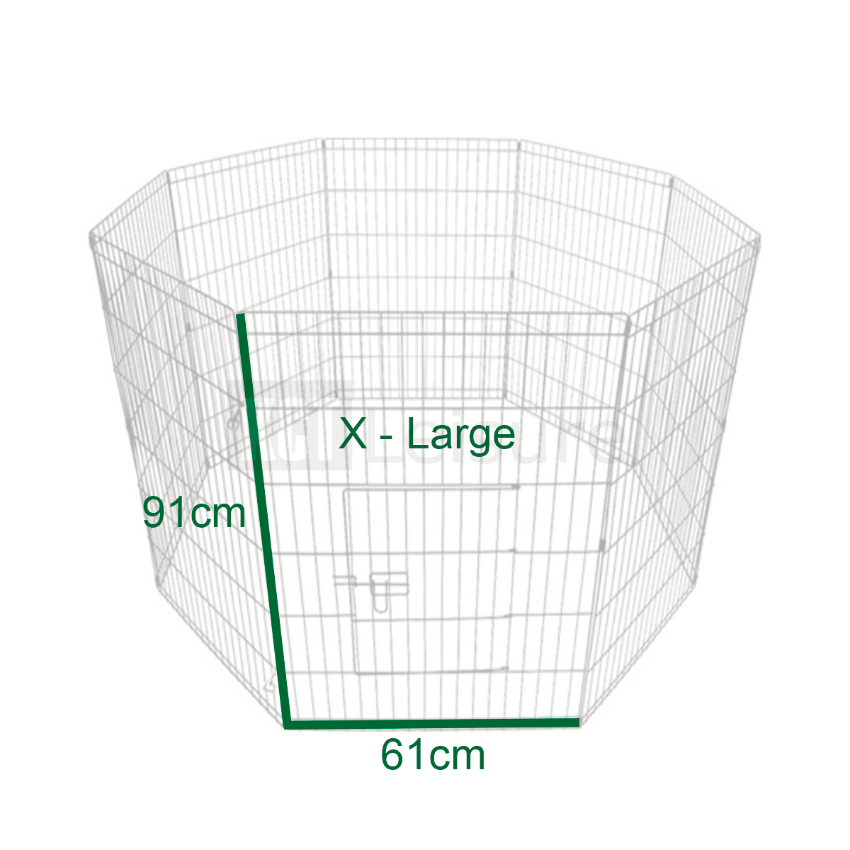 Puppy Play Pen Extra Large 91cm Animal Cage 8 Panel Pet
